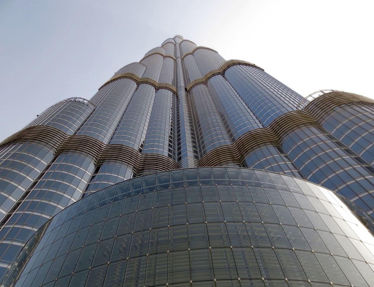 Vista del rascacielos desde la base