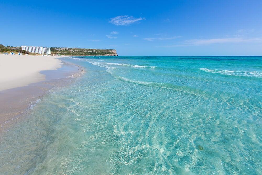 Cala Son Bou en Menorca