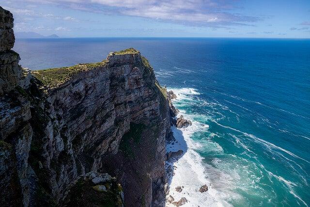 Vista desde Cape Point, parada en el camino al cabo de Buena Esperanza