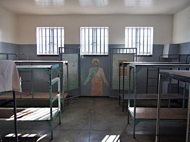 Interior de la prisión de Robben Island