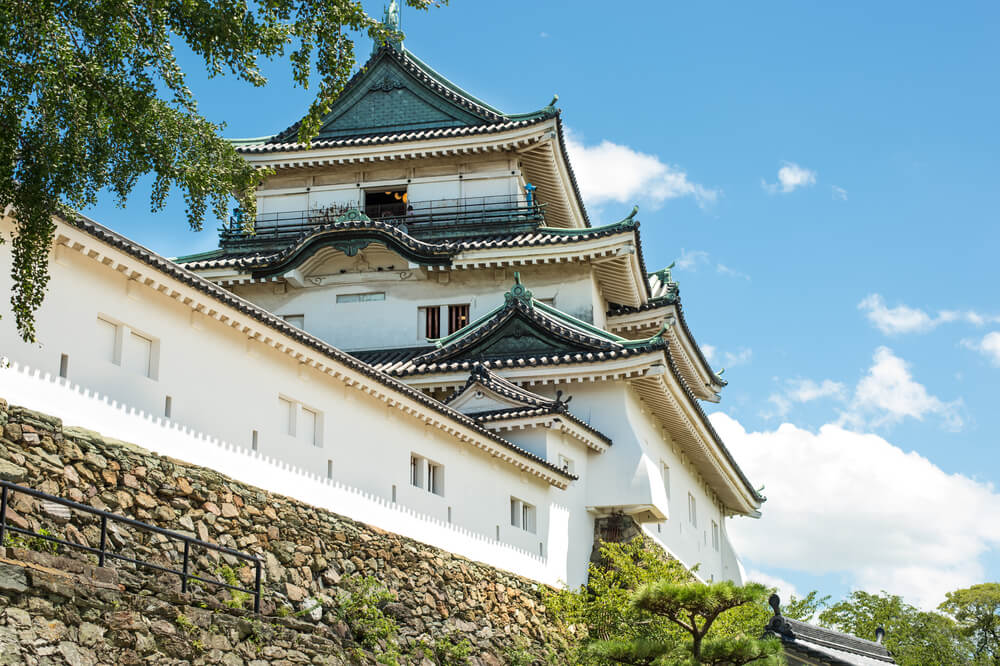 Vista del castillo de Wakayama