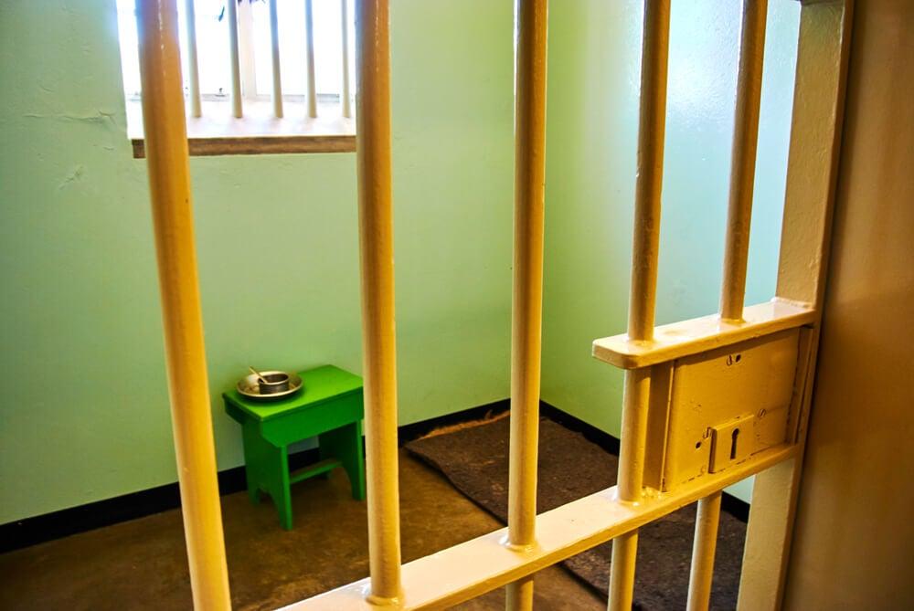 Interior de una celda en Robben Island