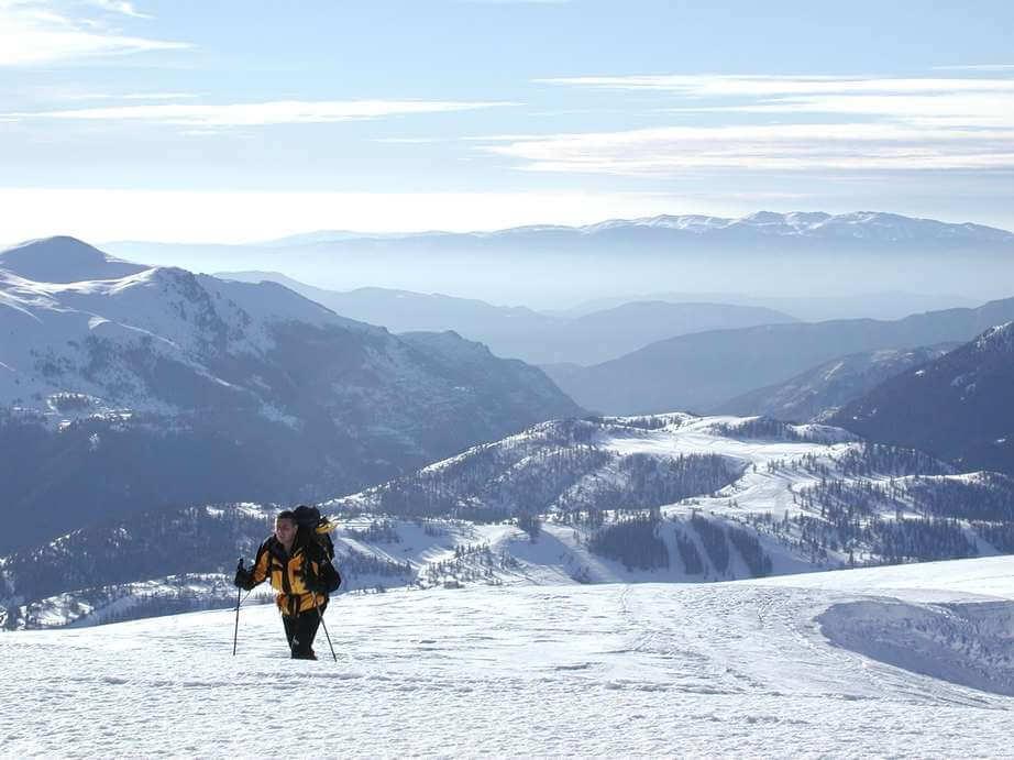 Vista de La Colmiane en los Alpes Marítimos