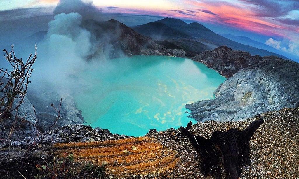 Vista del cráter Ijen