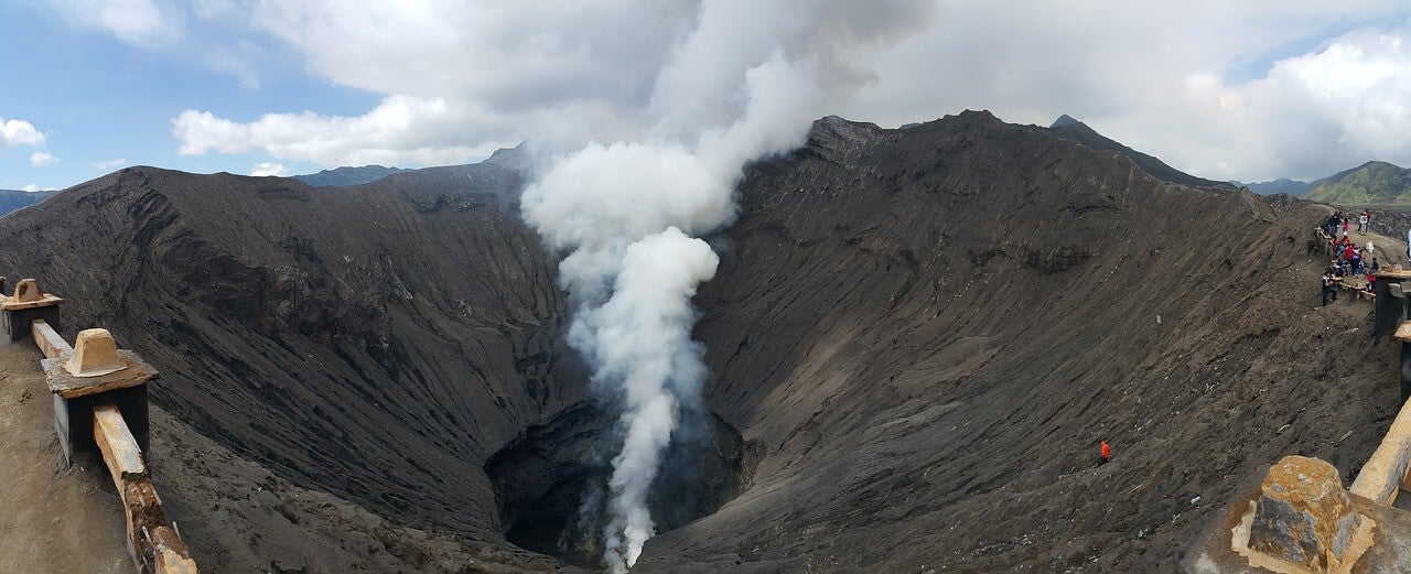 Cráter del monte Bromo