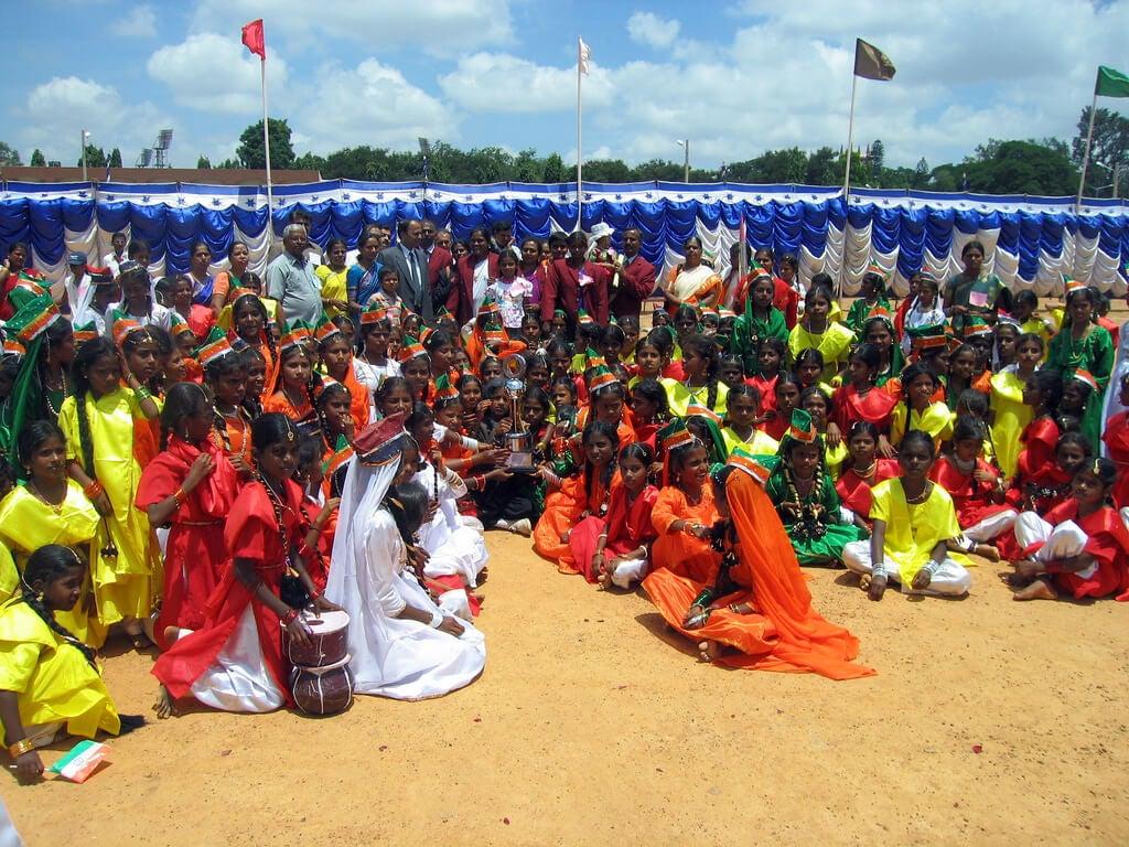 Celebración del Día de la Independencia en la India