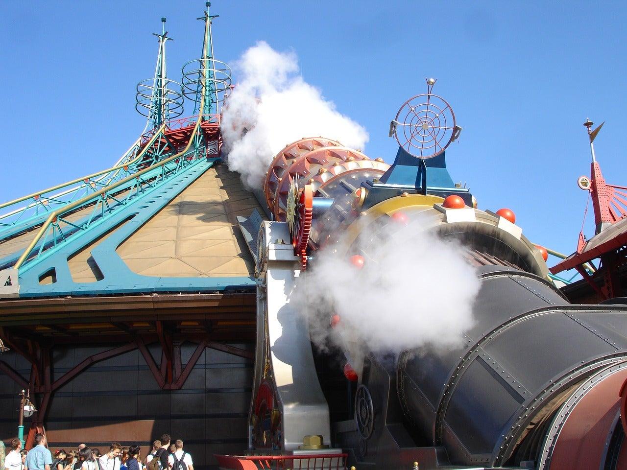 Atracción en Disneyland