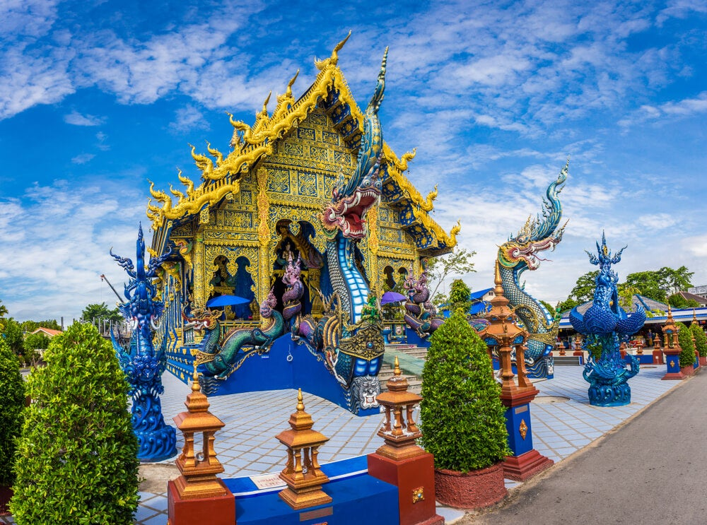 Fachada del Templo Azul