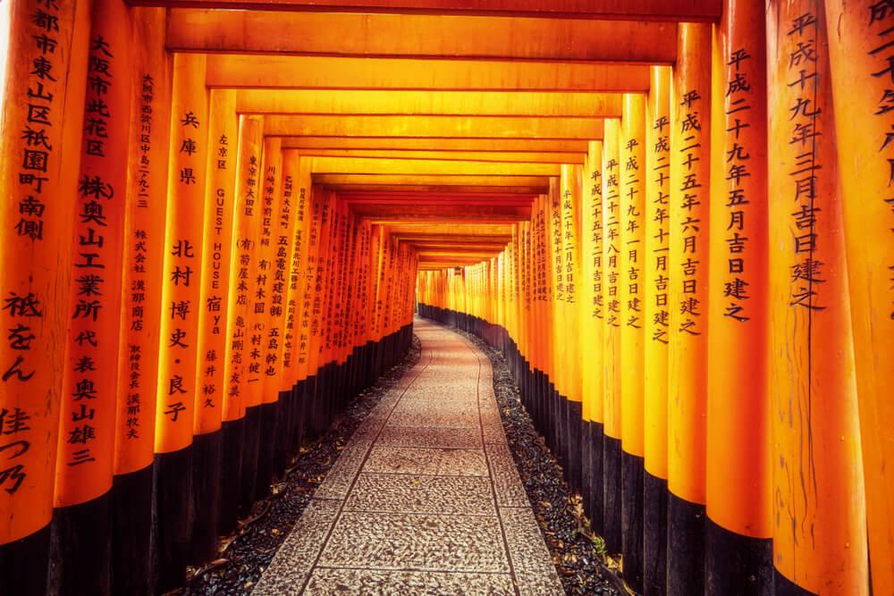 Toriis en Fushimi Inari