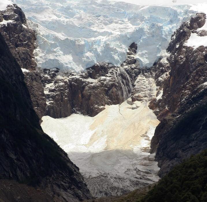 Vista del glaciar Torrecillas