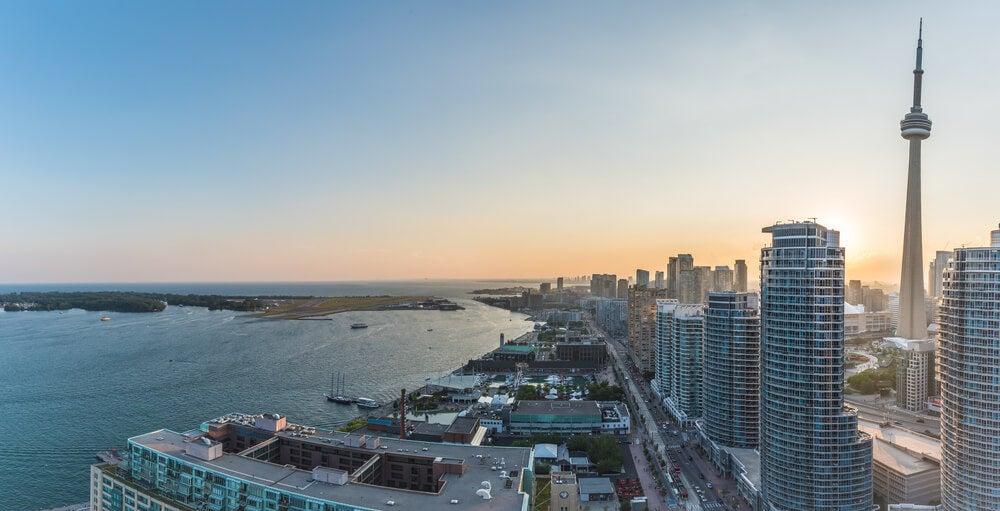 Vista de Harbour Front en Toronto