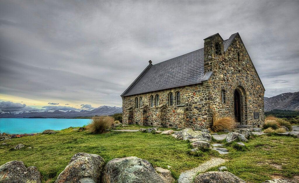 Iglesia Good Shephard en el lago Tekapo