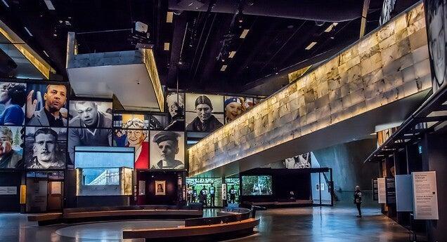 Interior del Museo Canadiense de los Derechos Humanos