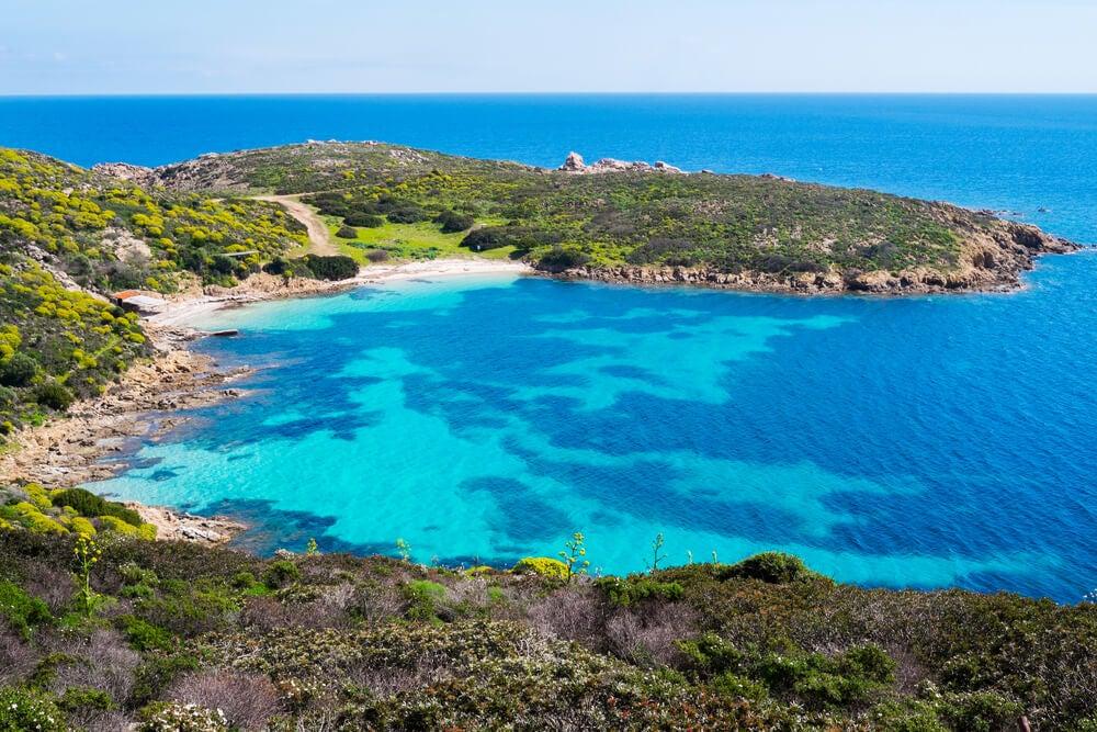 Vista de la Isla Asinara