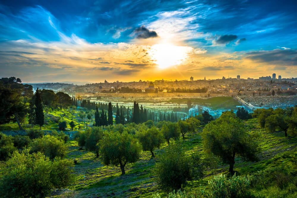 Vista de Jerusalén desde el monte de los Olivos