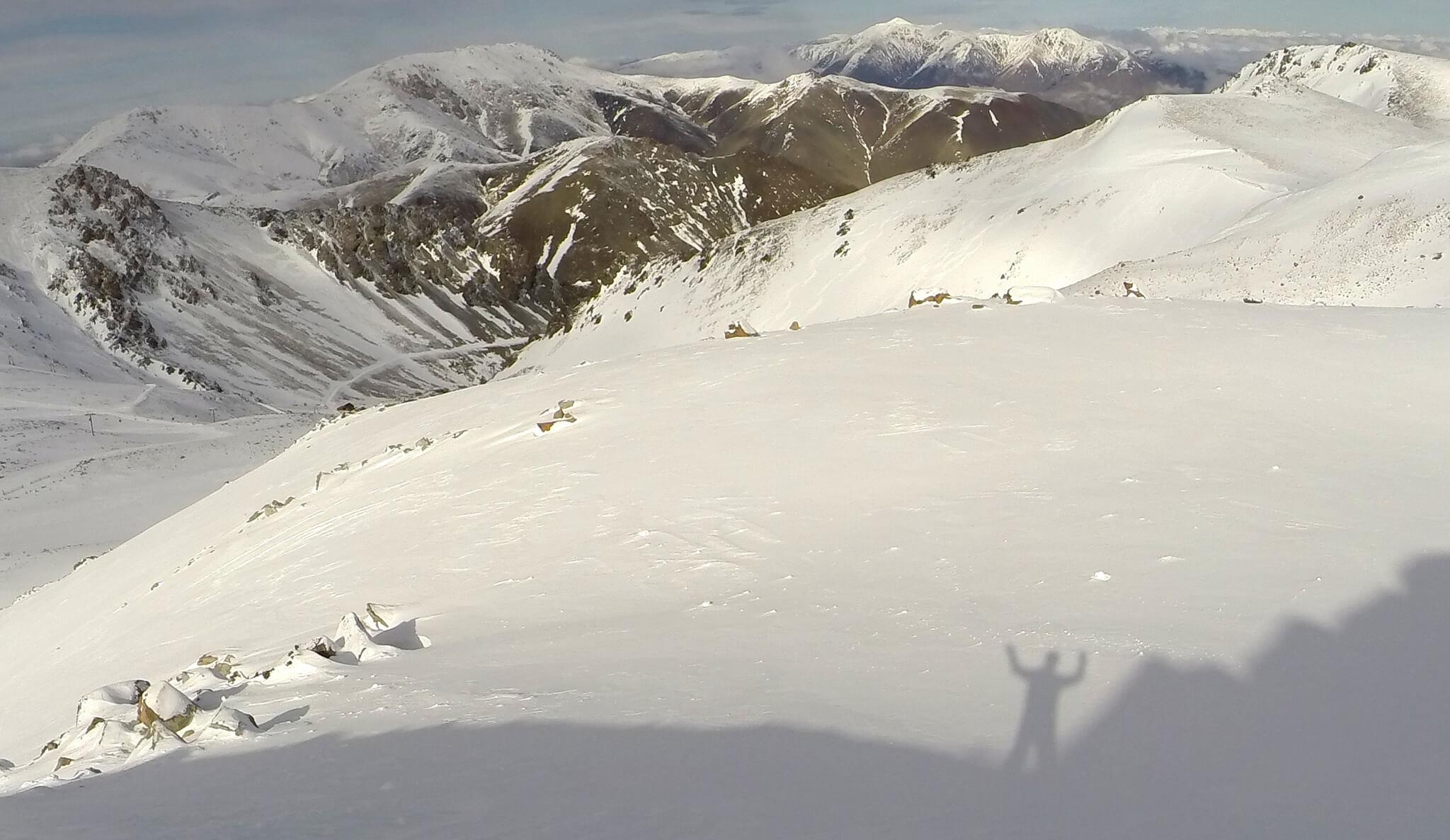 Cerro de La Hoya con nieve
