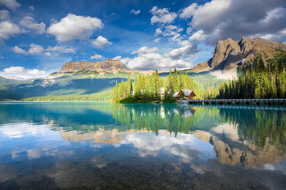 Lago Emerald en el Parque Nacional Banff