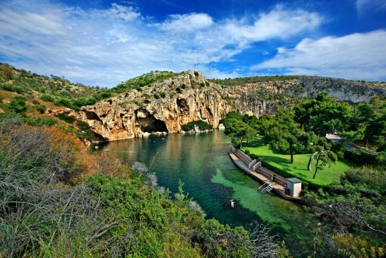 Lago Vouliagmeni, un tesoro cerca de Atenas