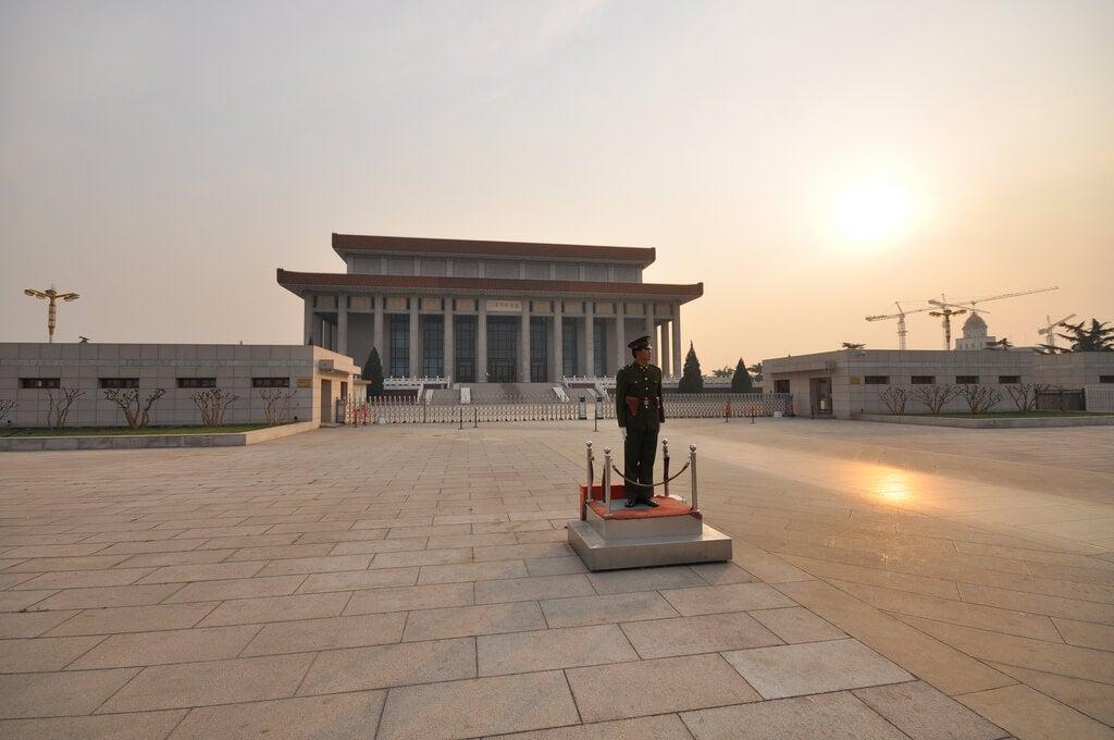 Mausoleo de Mao en la plaza de Tiananmen
