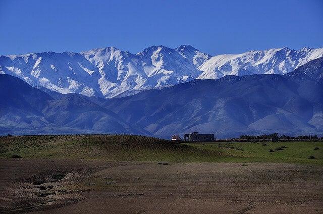 Paisaje de las montañas del Atlas