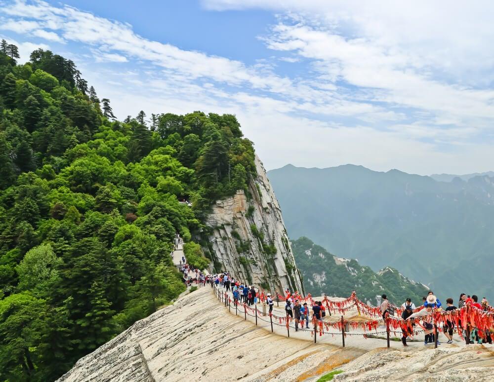 Peregrinos en el monte Huashan