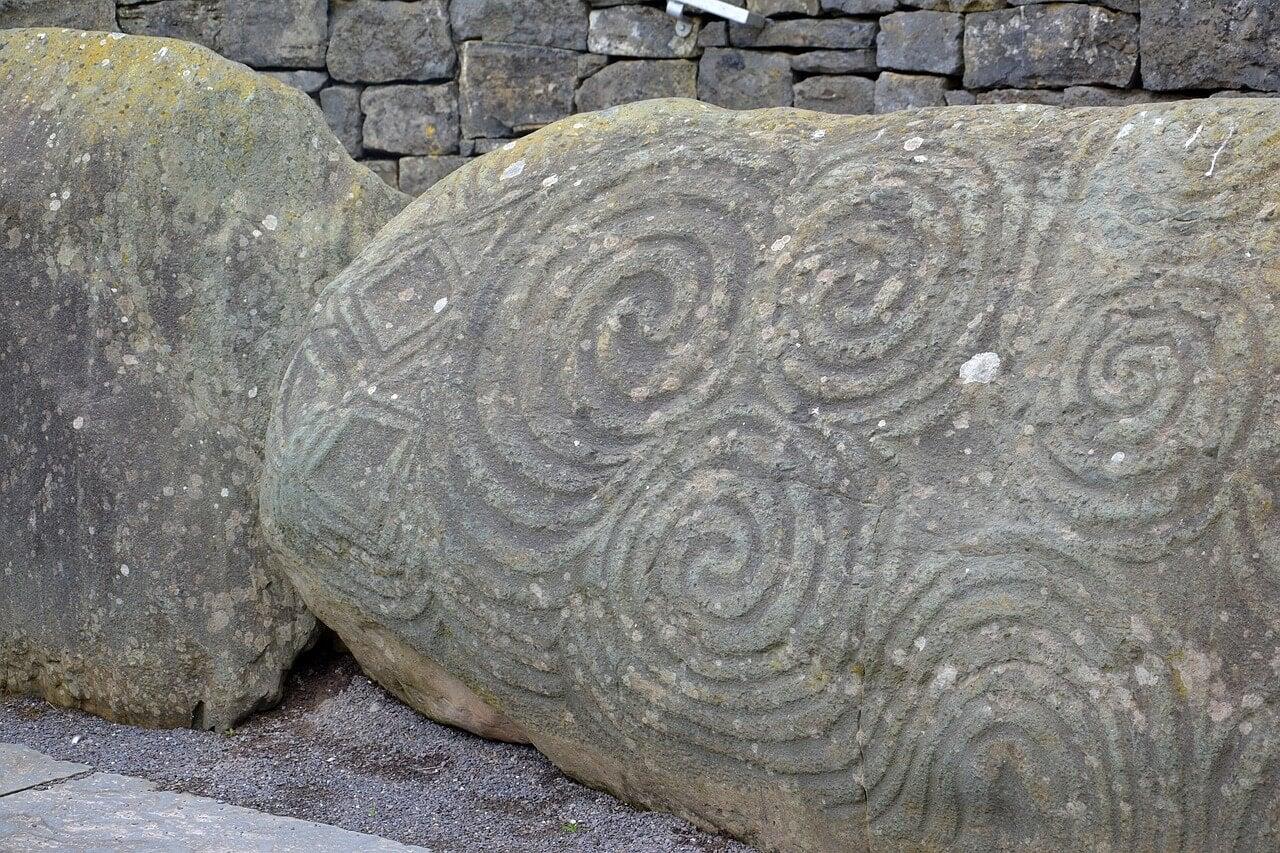 Piedra tallada de origen celta