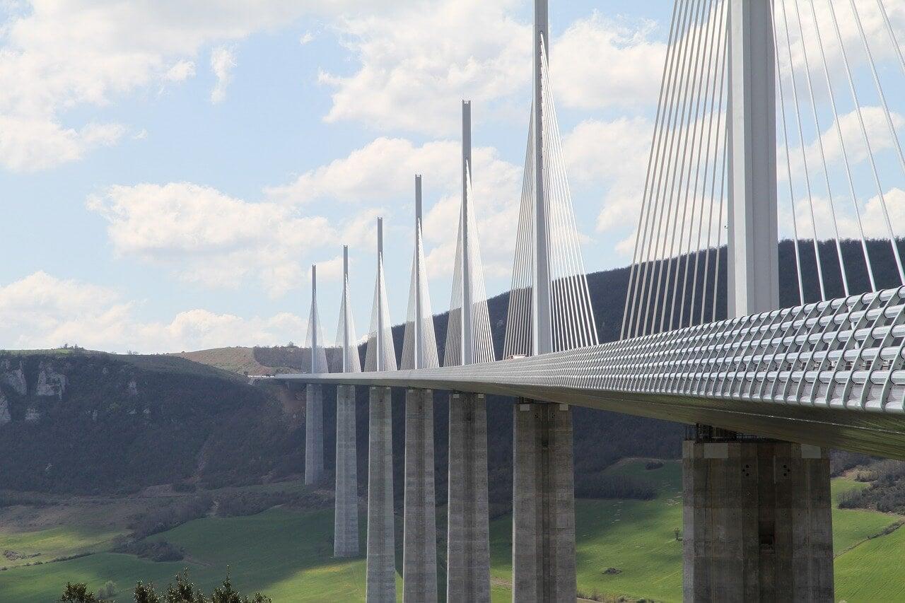 Pilares del viaducto