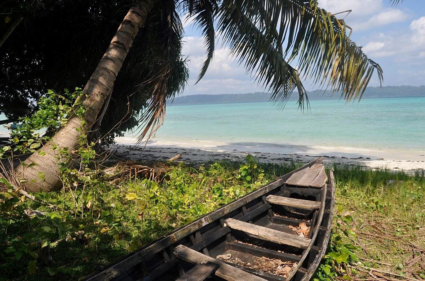 Playa en las islas