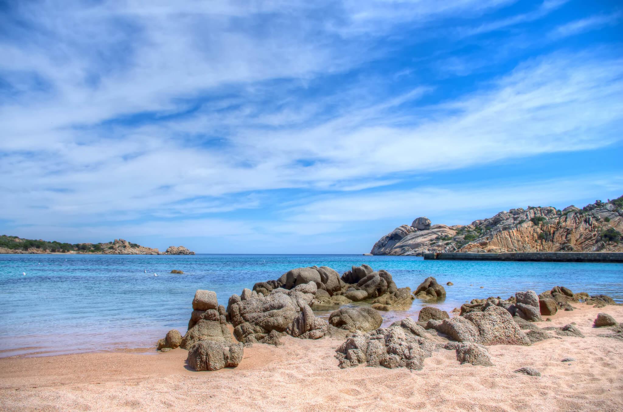 Playa en la Maddalena