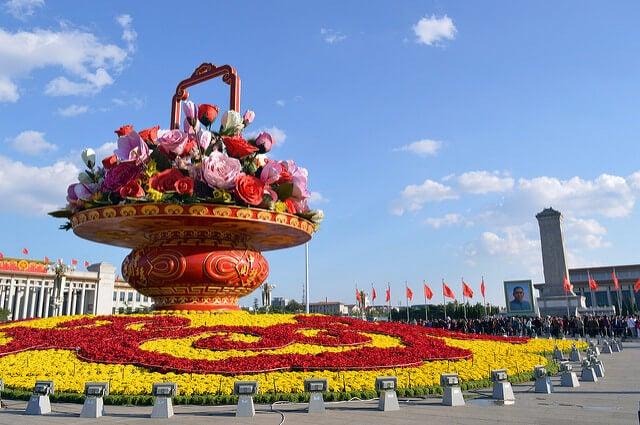 Vista de la plaza de Tiananmen