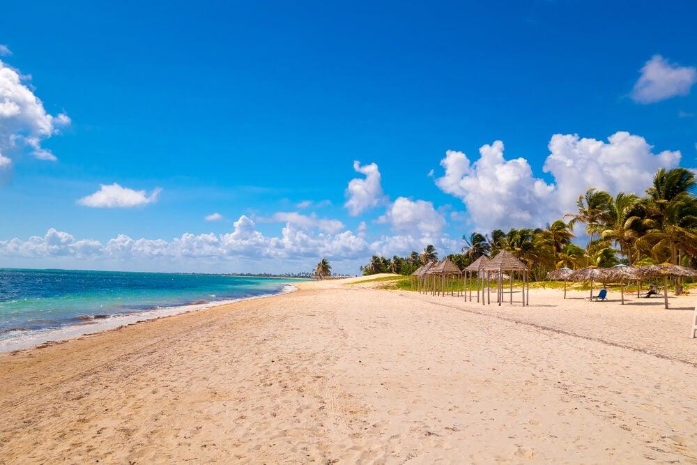 Vista de la playa de Santa Lucía