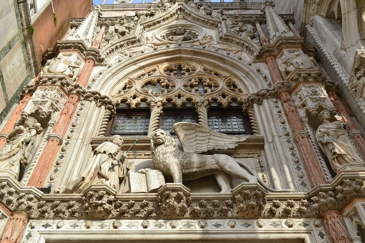 Porta della Carta en el Palacio Ducal de Venecia