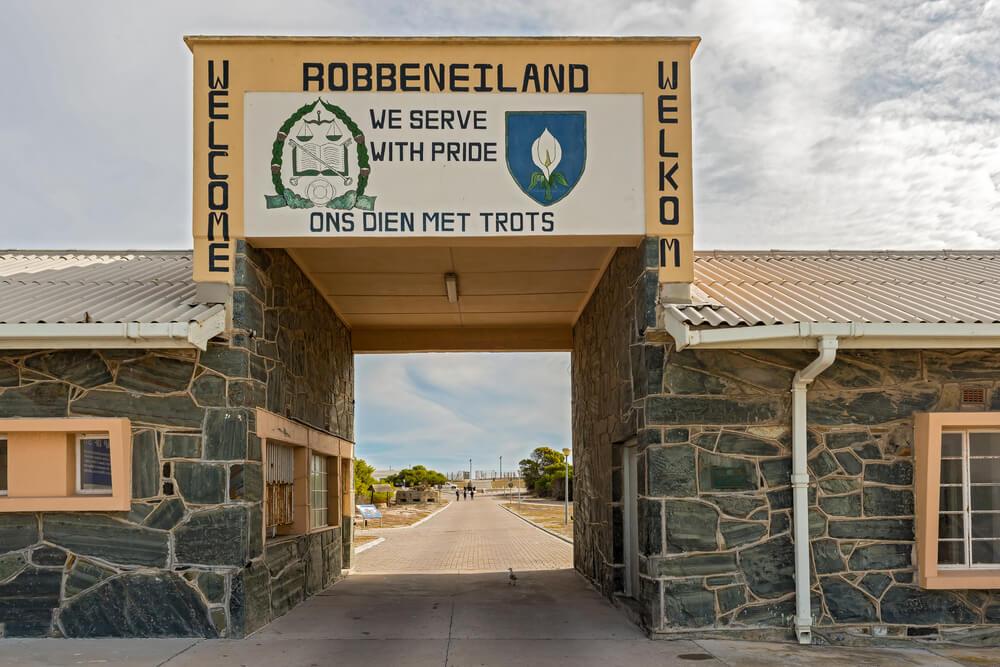 entrada a la prisión de Robben Island