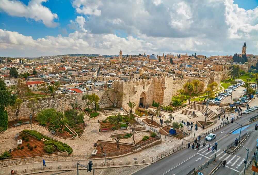 Muralla de Jerusalén y Puerta de Damasco