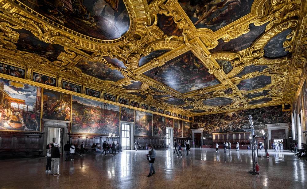 Sala del Maggior Consiglio del Palacio Ducal de Venecia