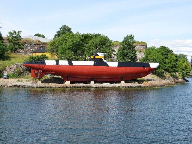 Submarino Vesikko en Suomelinna