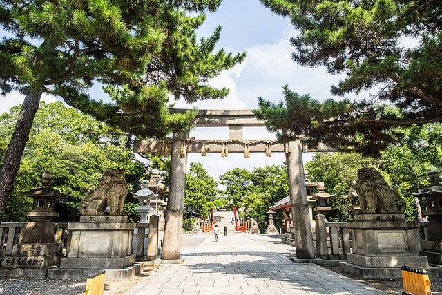 Torii de Sumiyoshi Taisha