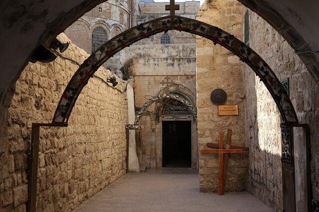 Vía dolorosa en Jerusalén