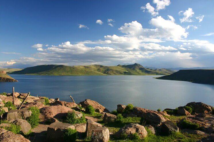 Vista del lago Umayo
