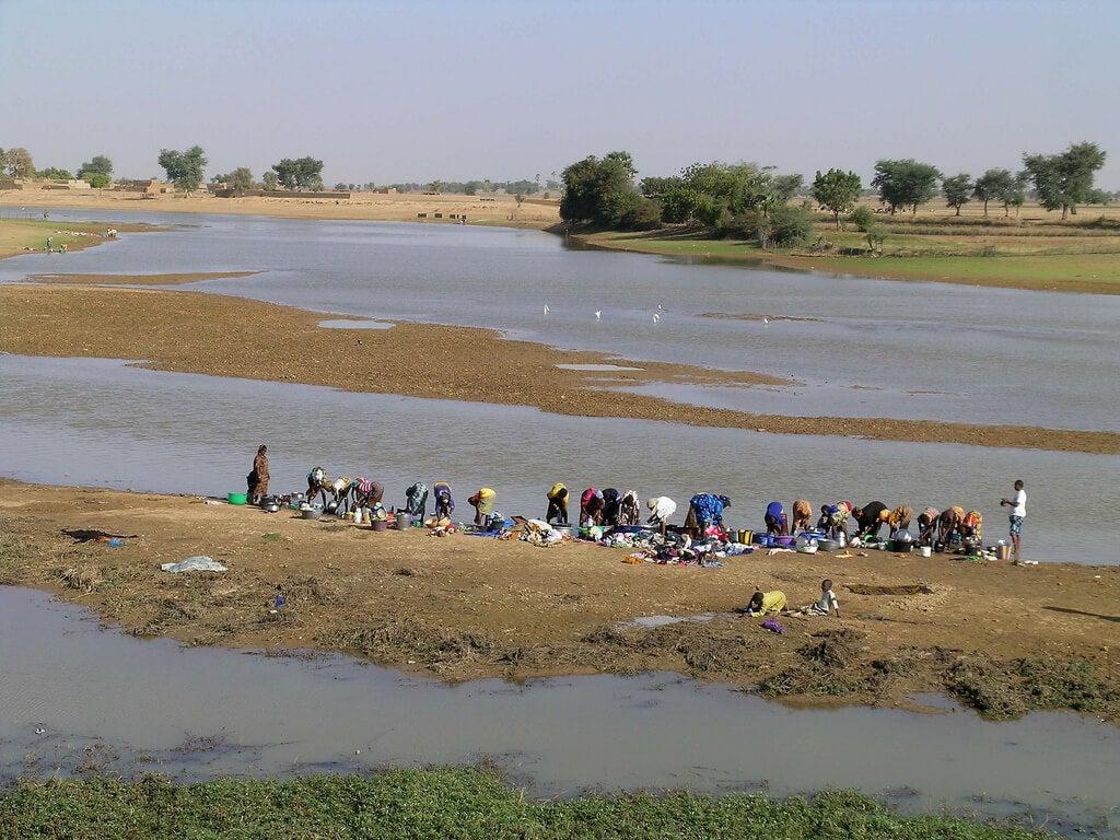 Vista del río Bani