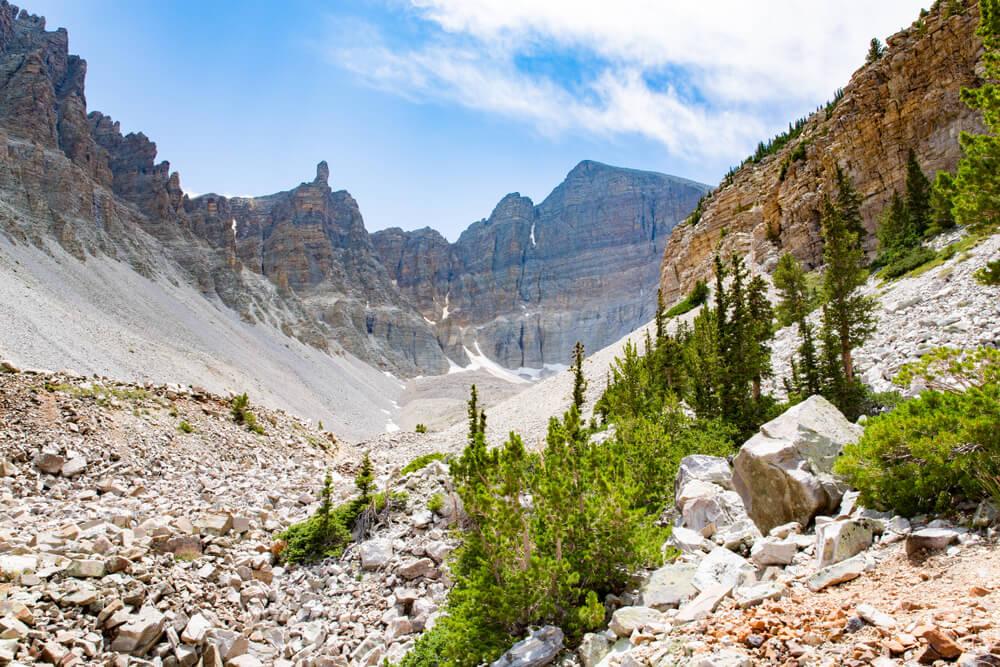 Vista de Wheeler Peak en el Parque Nacional Great Basin