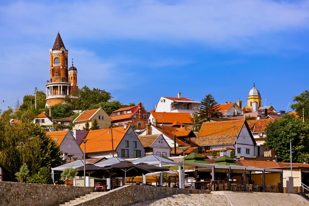 Vista de la ciudad vieja de Zemun