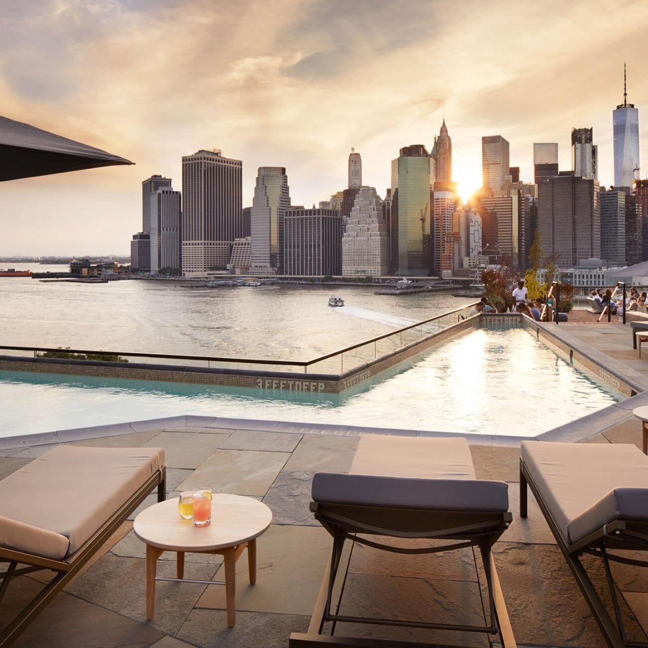 Terraza del hotel 1 Brooklyn Bridge