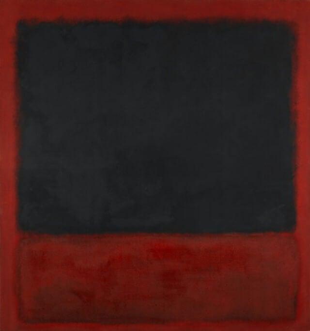 Obra de Mark Rothko ene l centro Pompidou