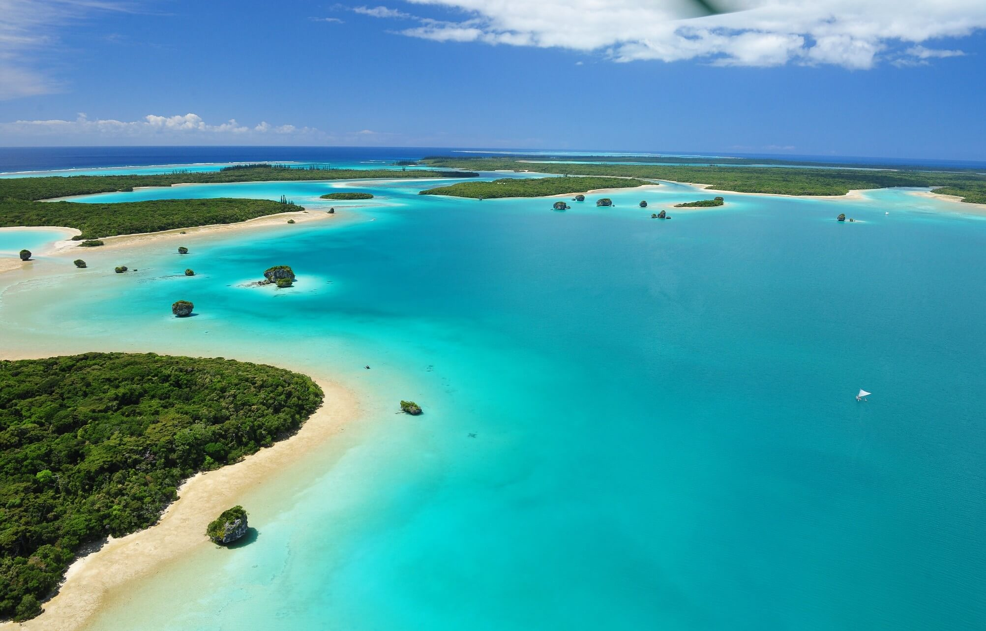 Imagen aérea de la Isla de Pinos