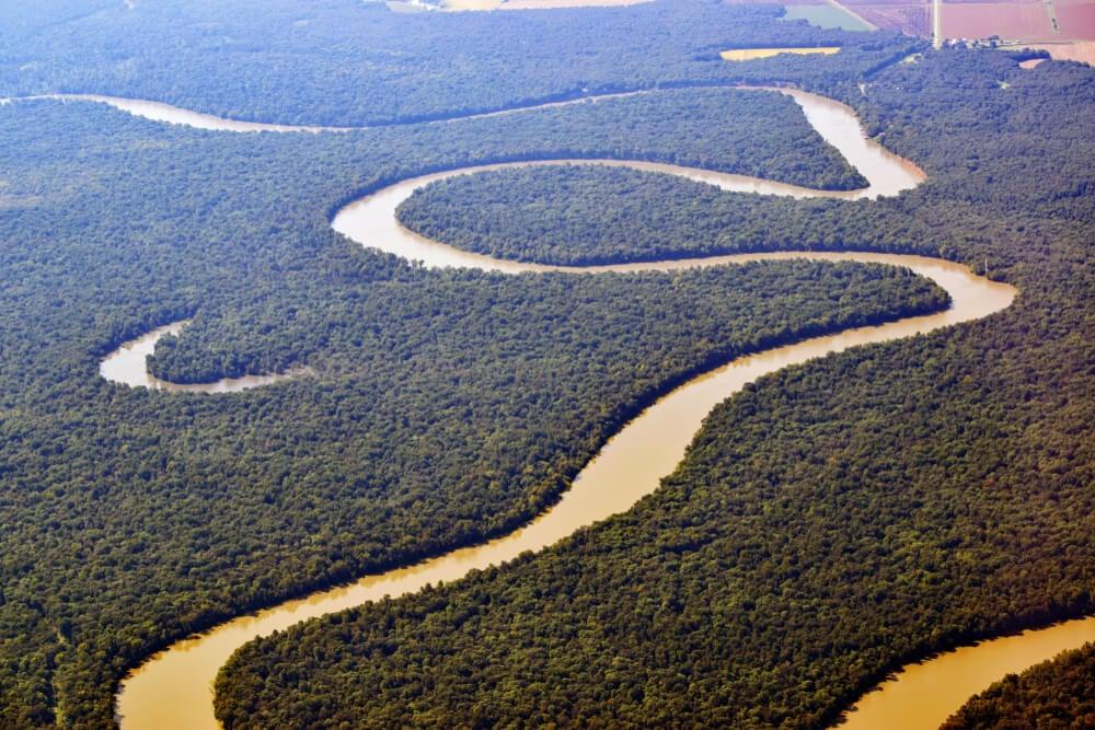 Vista aérea del Mississippi