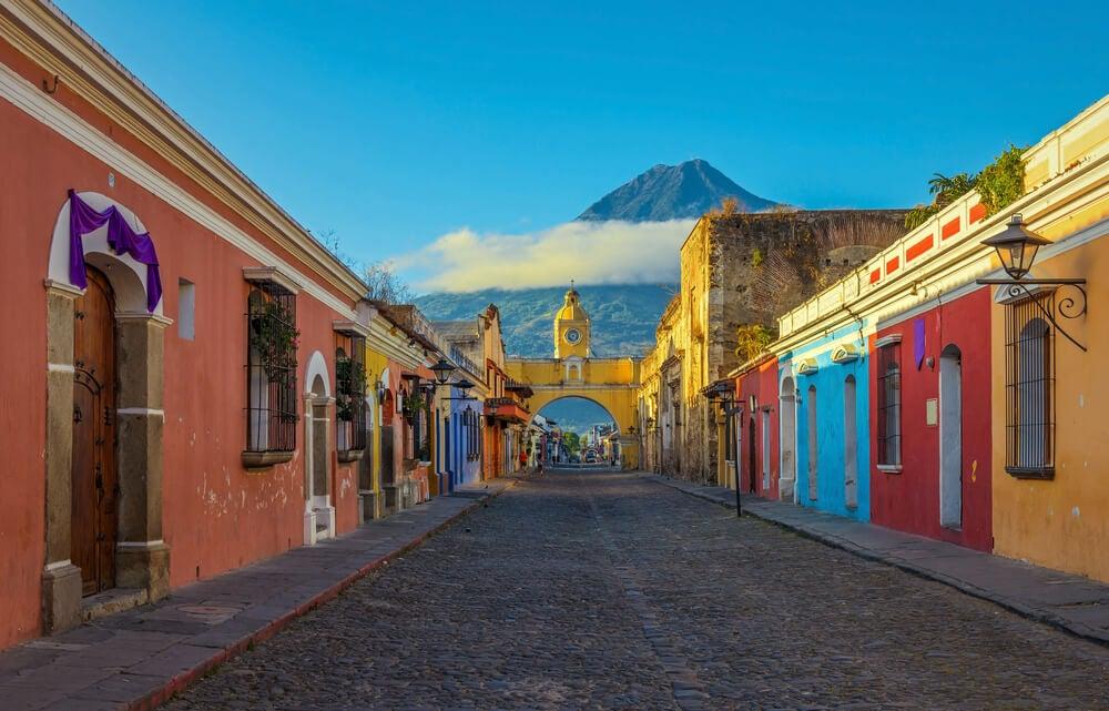 Calle de Antigua en Guatemala