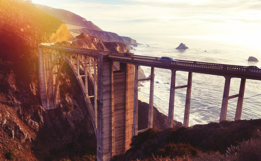 Bixby bridge en la Pacific Coast Highway