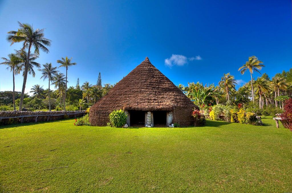 Cabaña tribal en Lifou