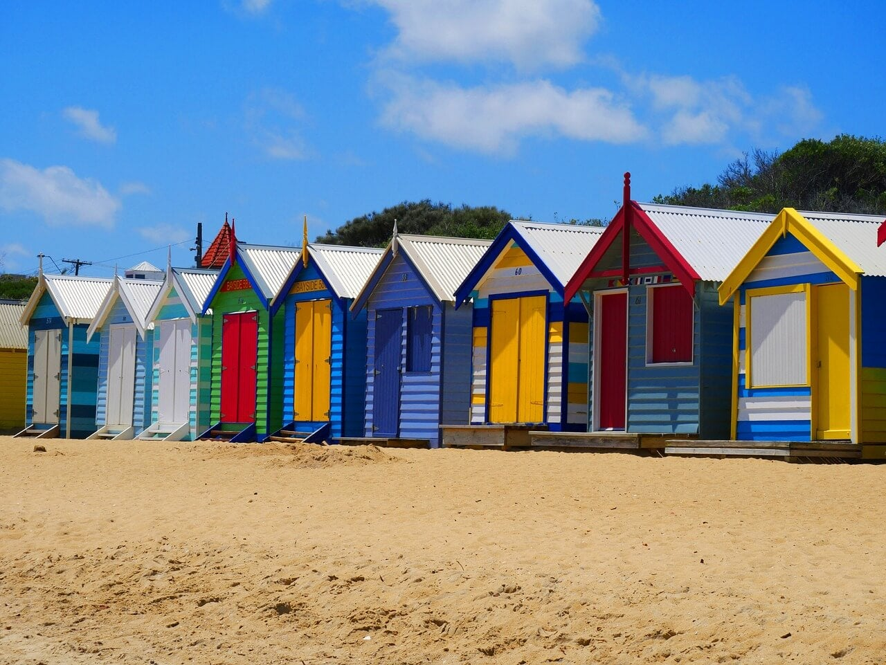 Casetas en la playa